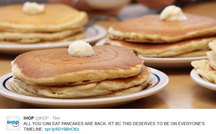 IHOP Coupon April 2018 Bottomless pancakes going on at IHOP