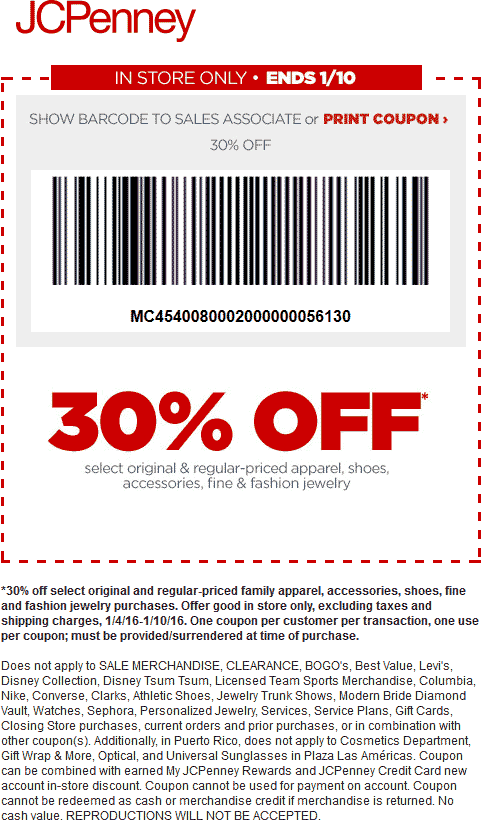 JCPenney Coupon September 2018 30% off at JCPenney