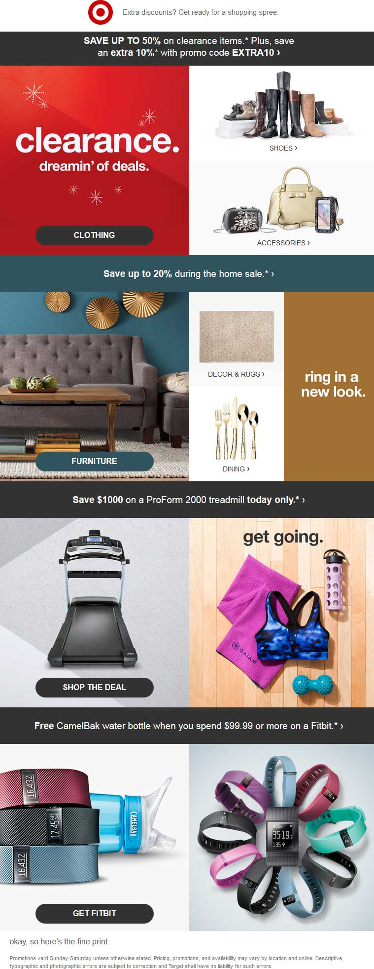 Target.com Promo Coupon 50% off clearance at Target + 10% more online via promo code EXTRA10