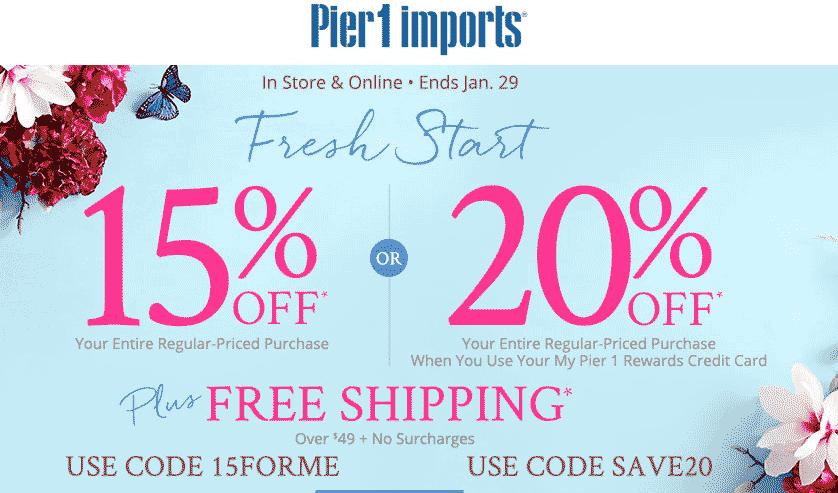 Pier1 coupon code