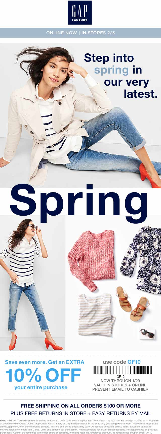 Gap Factory Coupon March 2019 Extra 10% off at Gap Factory, or online via promo code GF10