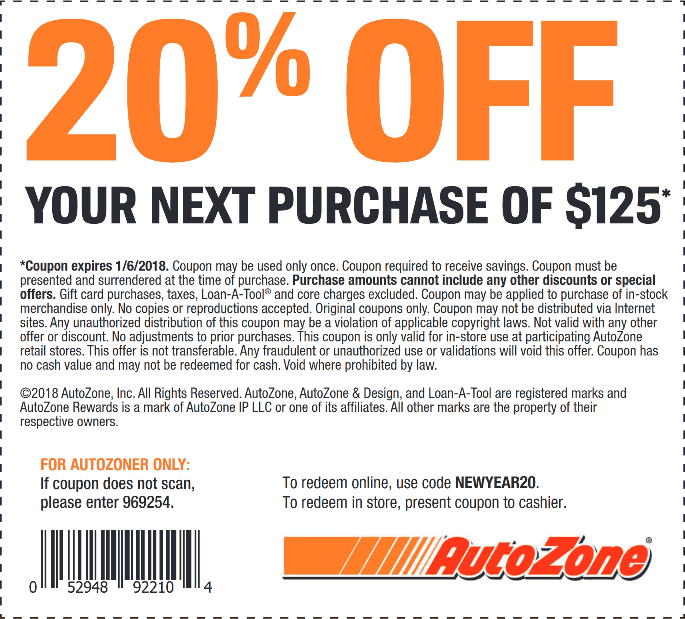 It's just a photo of Universal Autozone Printable Coupon 2020