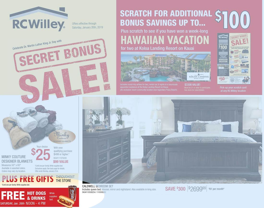RC Willey Coupon August 2019 Free hot dogs & drinks today at RC Willey