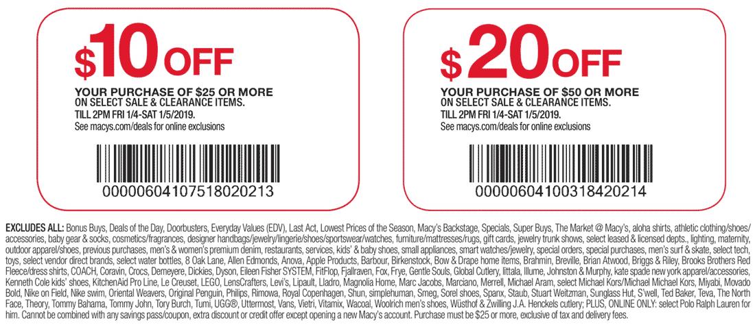 Macys Coupon May 2019 $10 off $25 & more at Macys