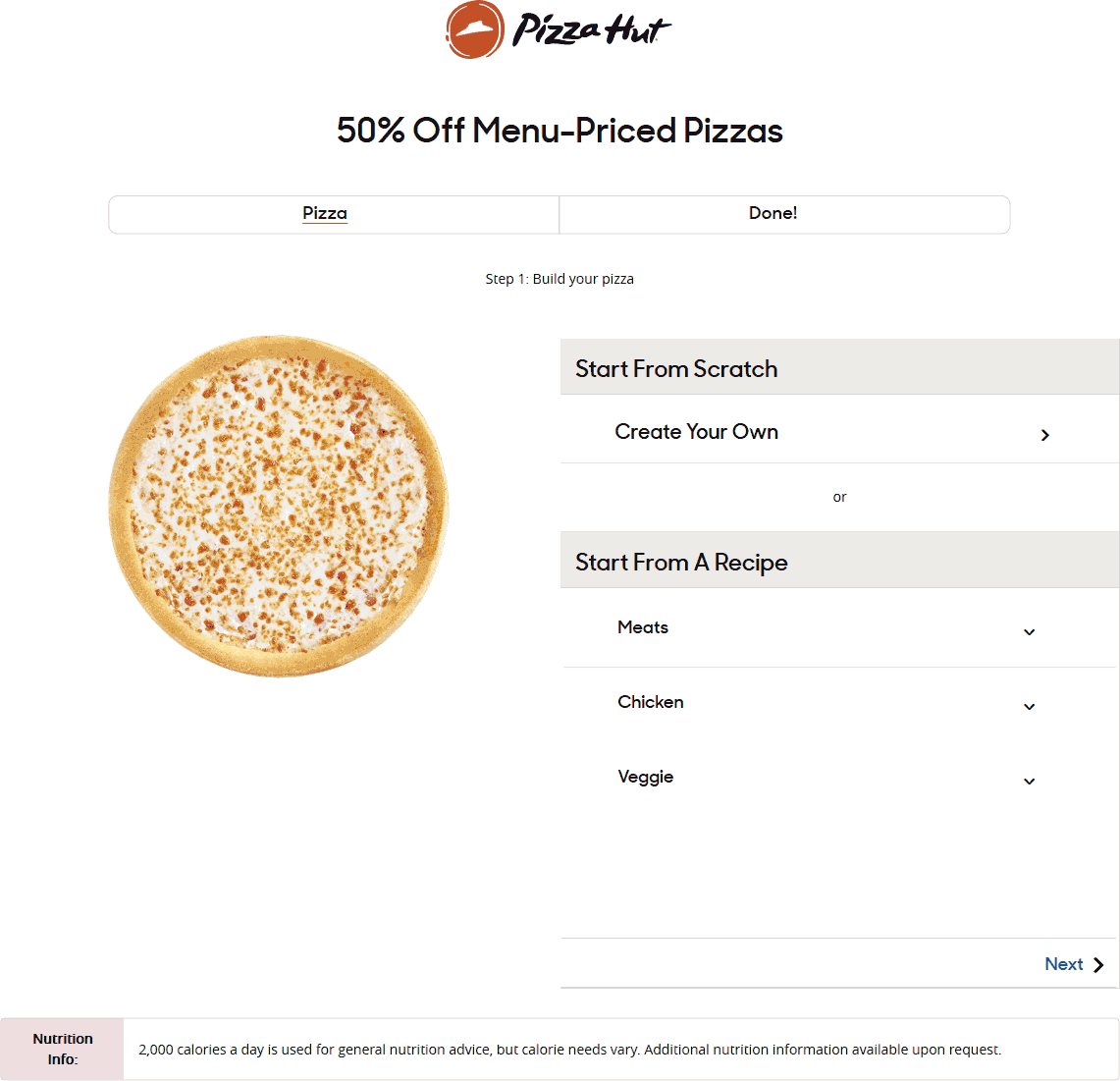 Pizza Hut Coupon January 2020 50% off pizzas at Pizza Hut via promo code FIFTYOFFNY