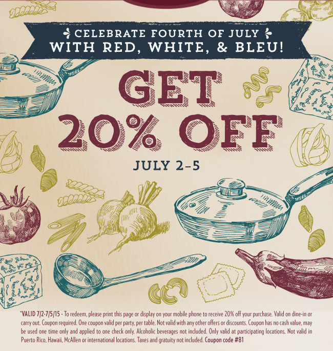 Macaroni Grill Coupon June 2017 20% off at Macaroni Grill restaurants