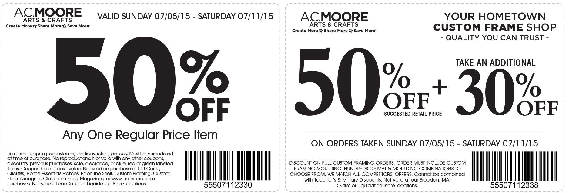 A.C. Moore Coupon July 2017 50% off a single item & more at A.C. Moore