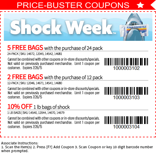 Leslies Pool Coupon August 2019 10% off shock & more at Leslies Pool supplies
