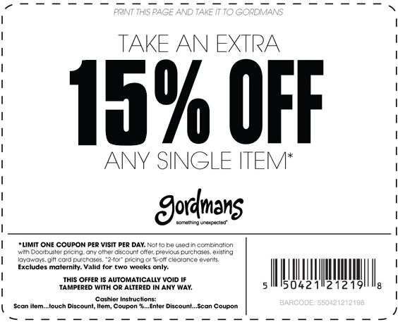 Gordmans Coupon October 2017 Extra 20% off a single item at Gordmans