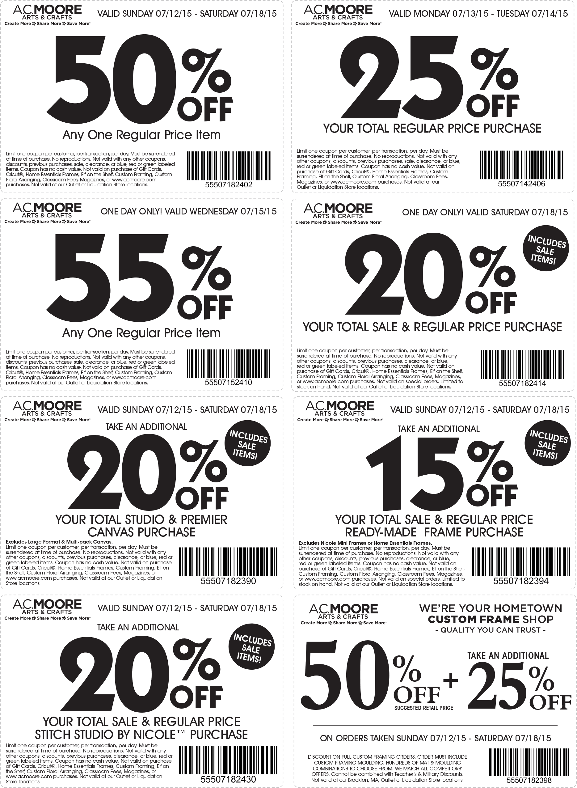 A.C. Moore Coupon November 2017 50% off a single item & more at A.C. Moore