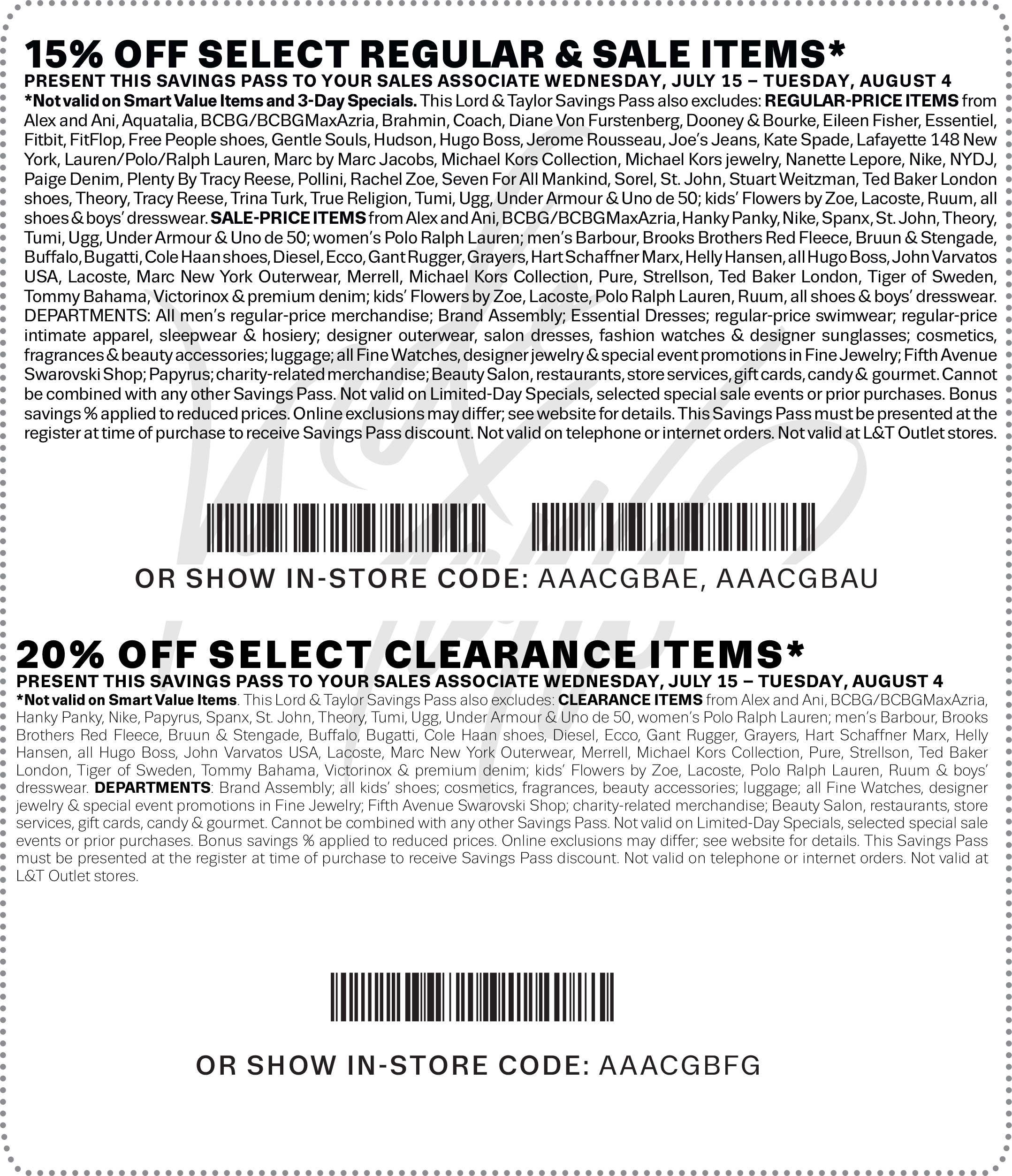 Lord & Taylor Coupon December 2016 15-20% off at Lord & Taylor, or online via promo code <promocode>FINAL</promocode>