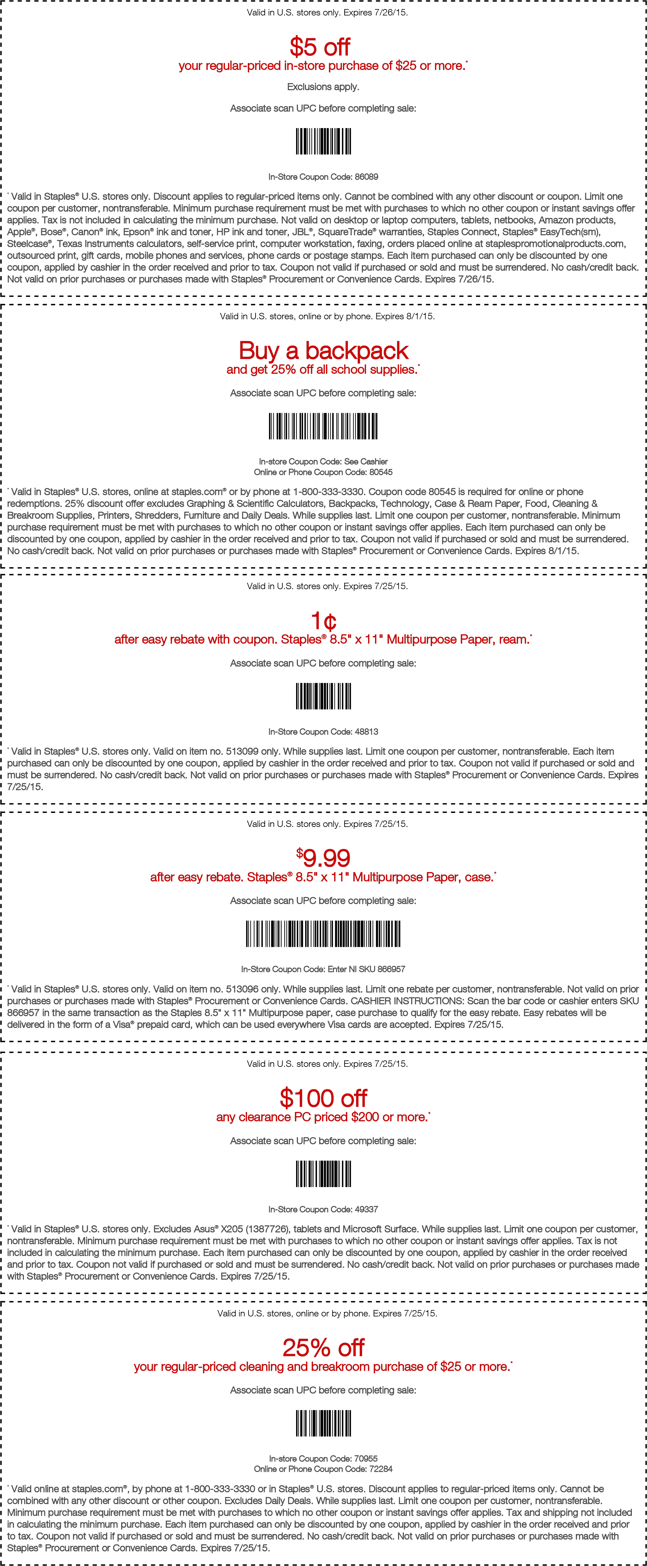 Staples Coupon December 2016 $5 off $25, free shredding & more at Staples