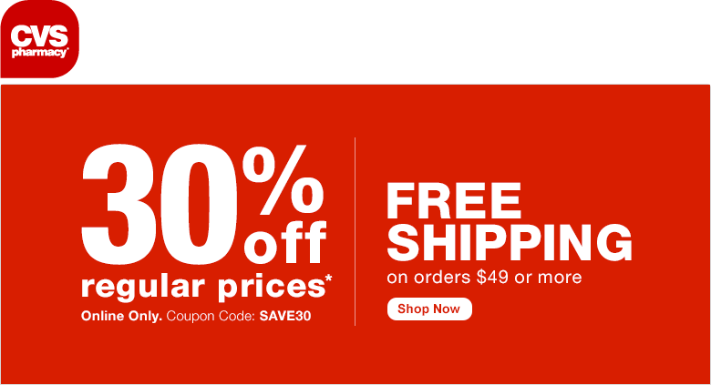 CVS Pharmacy Coupon December 2016 30% off online at CVS Pharmacy via promo code SAVE30