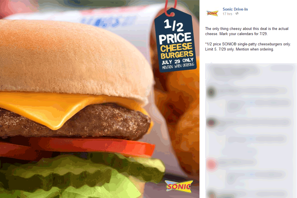 Sonic Drive-In Coupon September 2017 50% off cheeseburgers Wednesday at Sonic Drive-In