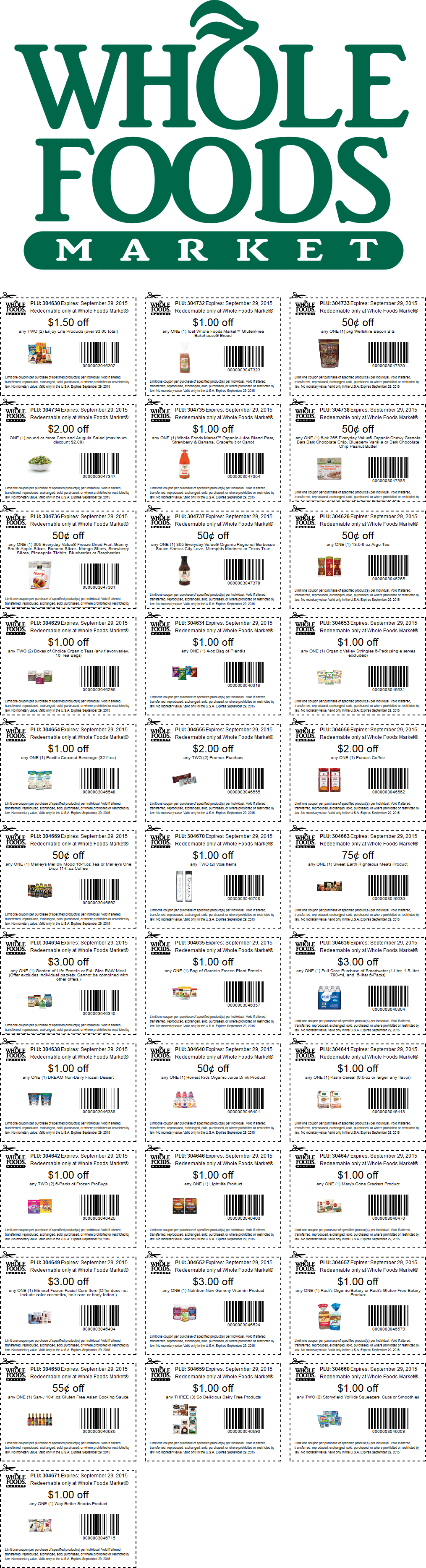 Whole Foods Coupon March 2018 Various grocery coupons for Whole Foods market
