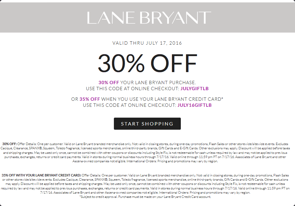 photo regarding Lane Bryant Printable Coupons named Lane Bryant Discount codes - 30% off at Lane Bryant, or on the net by means of