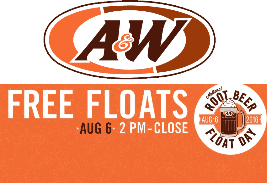 A&W Coupon March 2017 Free root beer floats the 6th at A&W restaurants
