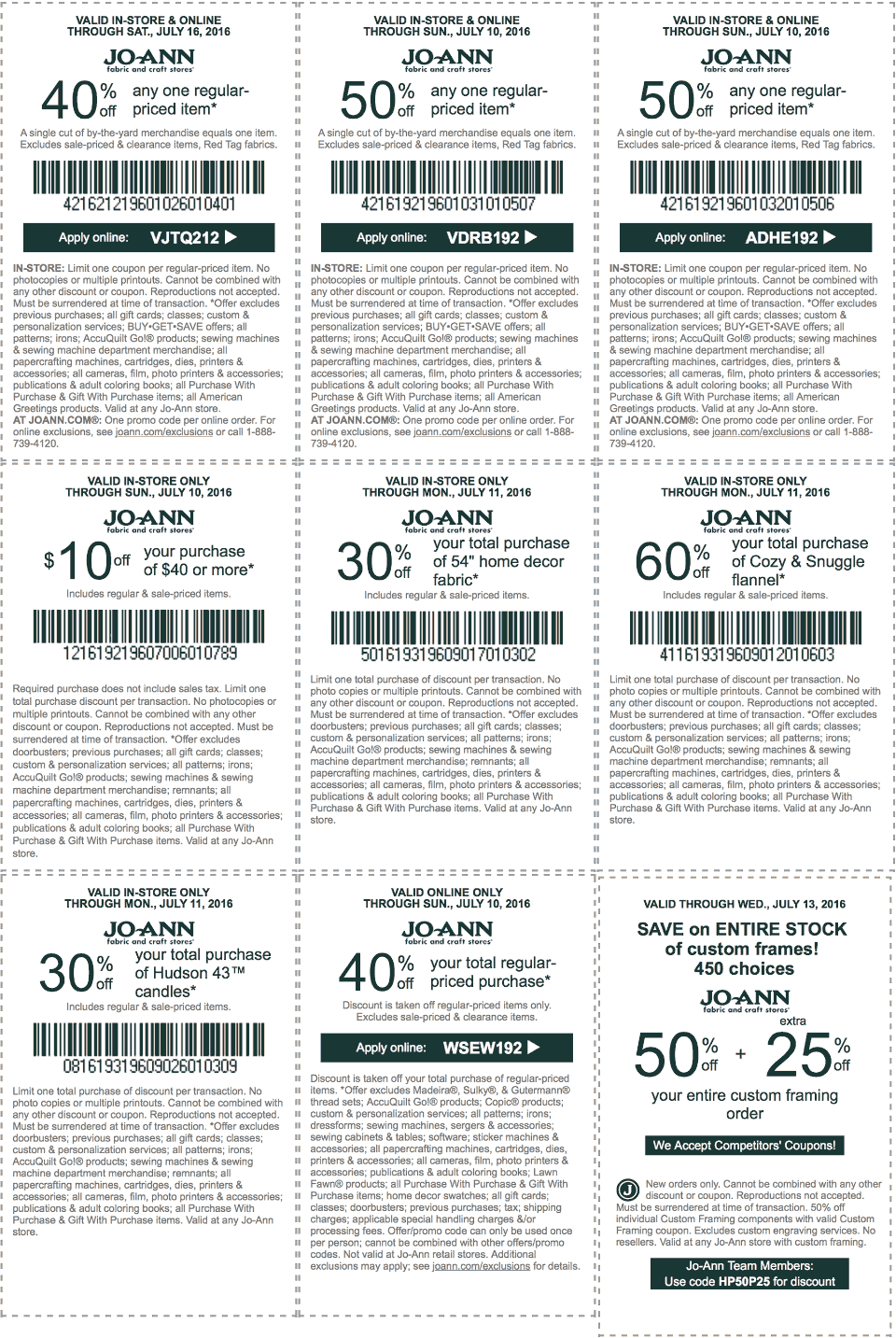 Jo-Ann Fabric Coupon September 2017 50% off a single item & more at Jo-Ann Fabric, or online via promo code VDRB192