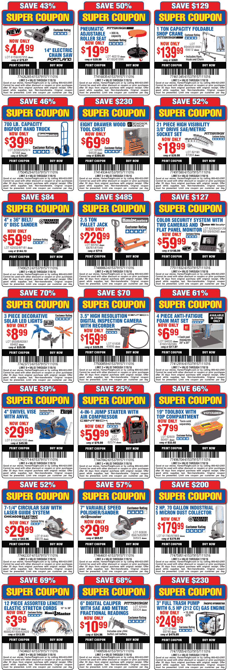 Harbor Freight Tools Coupon February 2017 Various tool discounts at Harbor Freight Tools