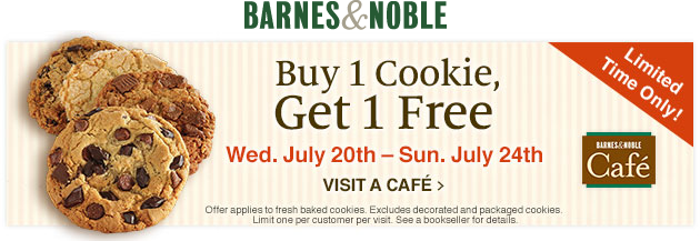 Barnes & Noble Coupon March 2018 Second cookie free at Barnes & Noble