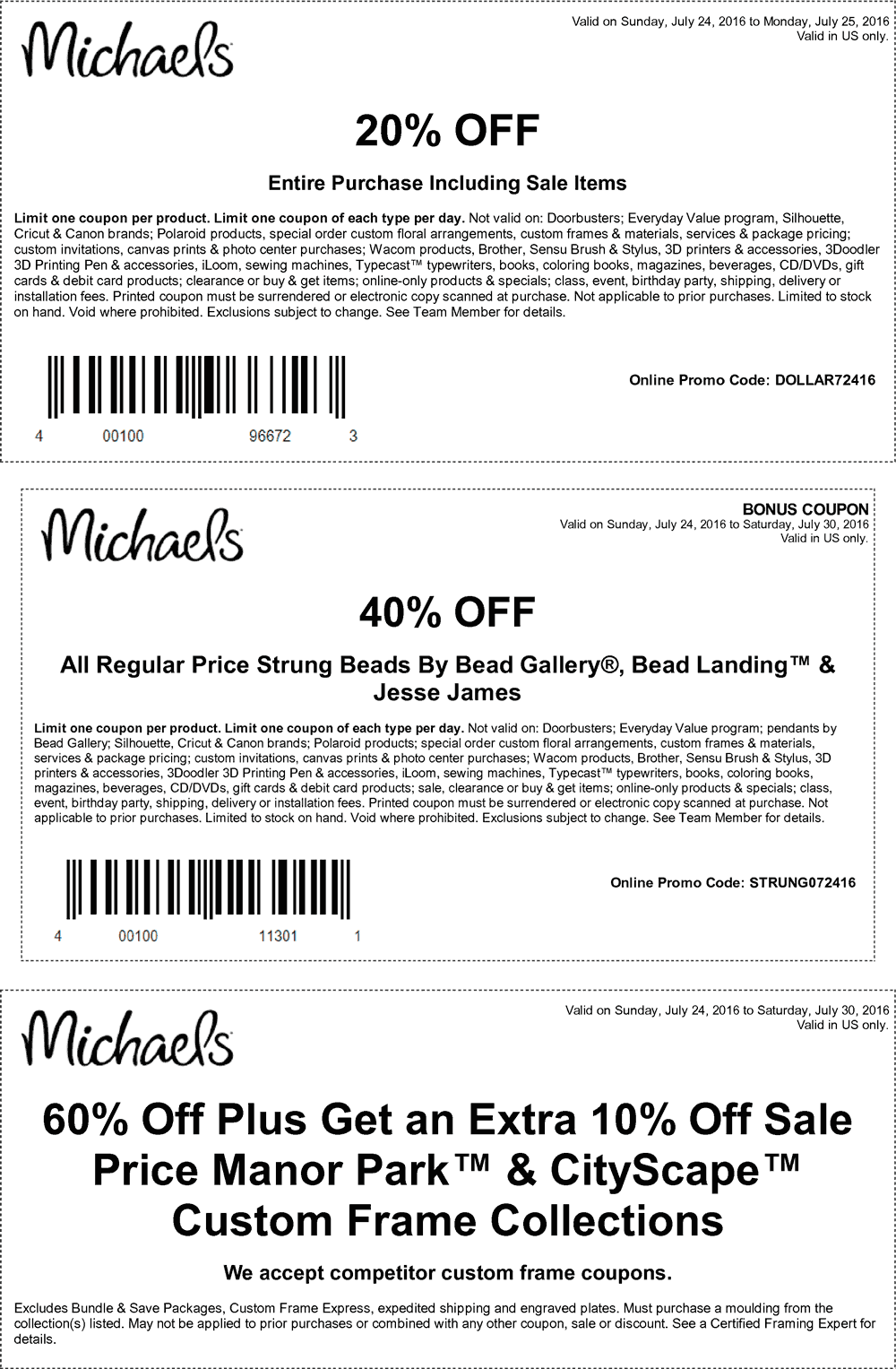 Michaels Coupon April 2017 20% off everything at Michaels, or online via promo code DOLLAR72416