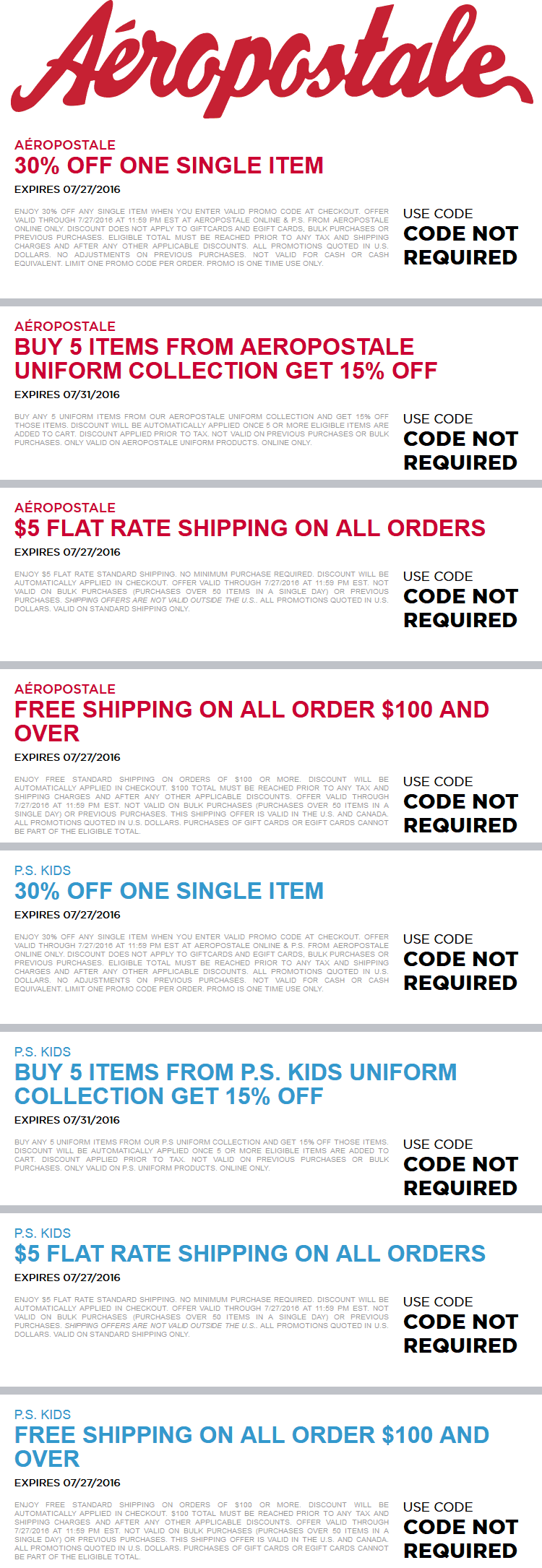 Aeropostale Coupon August 2017 30% off a single item & more today at Aeropostale, or online via promo code THIRTY