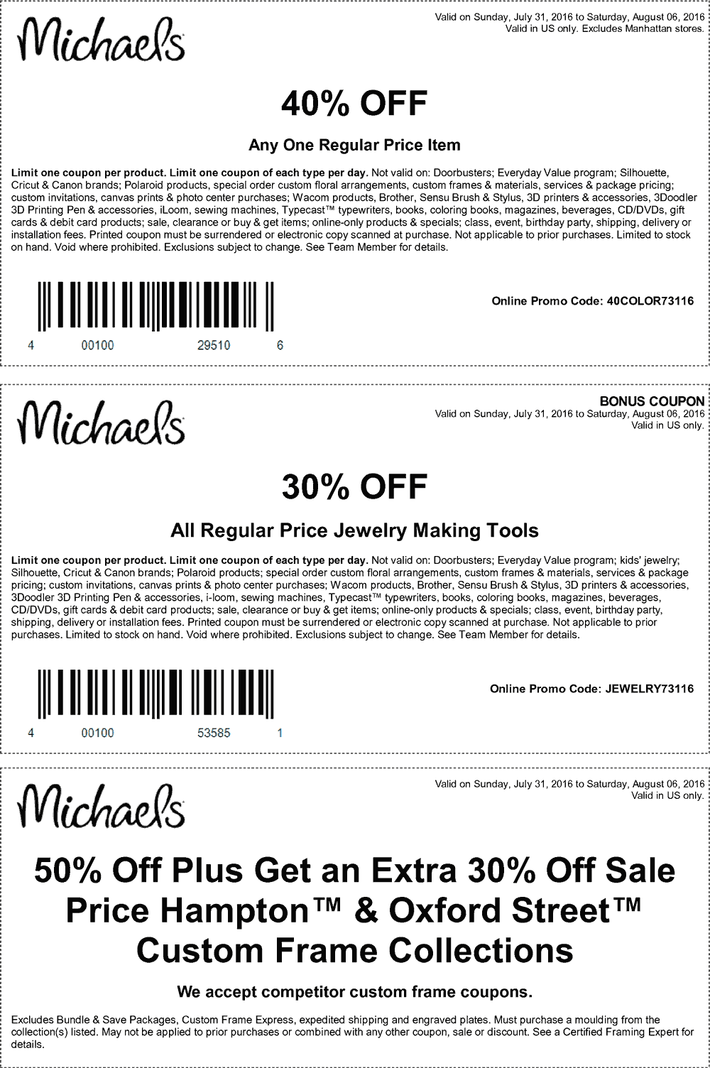 Michaels Coupon May 2017 40% off a single item at Michaels, or online via promo code 40COLOR73116