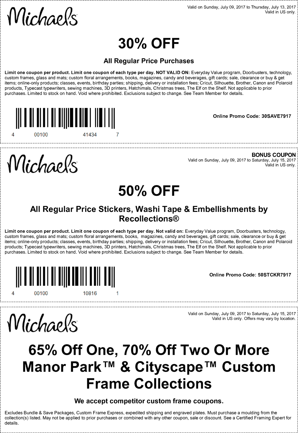 Michaels Coupons - 30% off at Michaels, or online via promo code ...