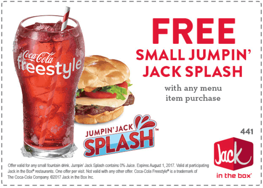 Jack in the Box Coupon March 2019 Free drink with any item at Jack in the Box