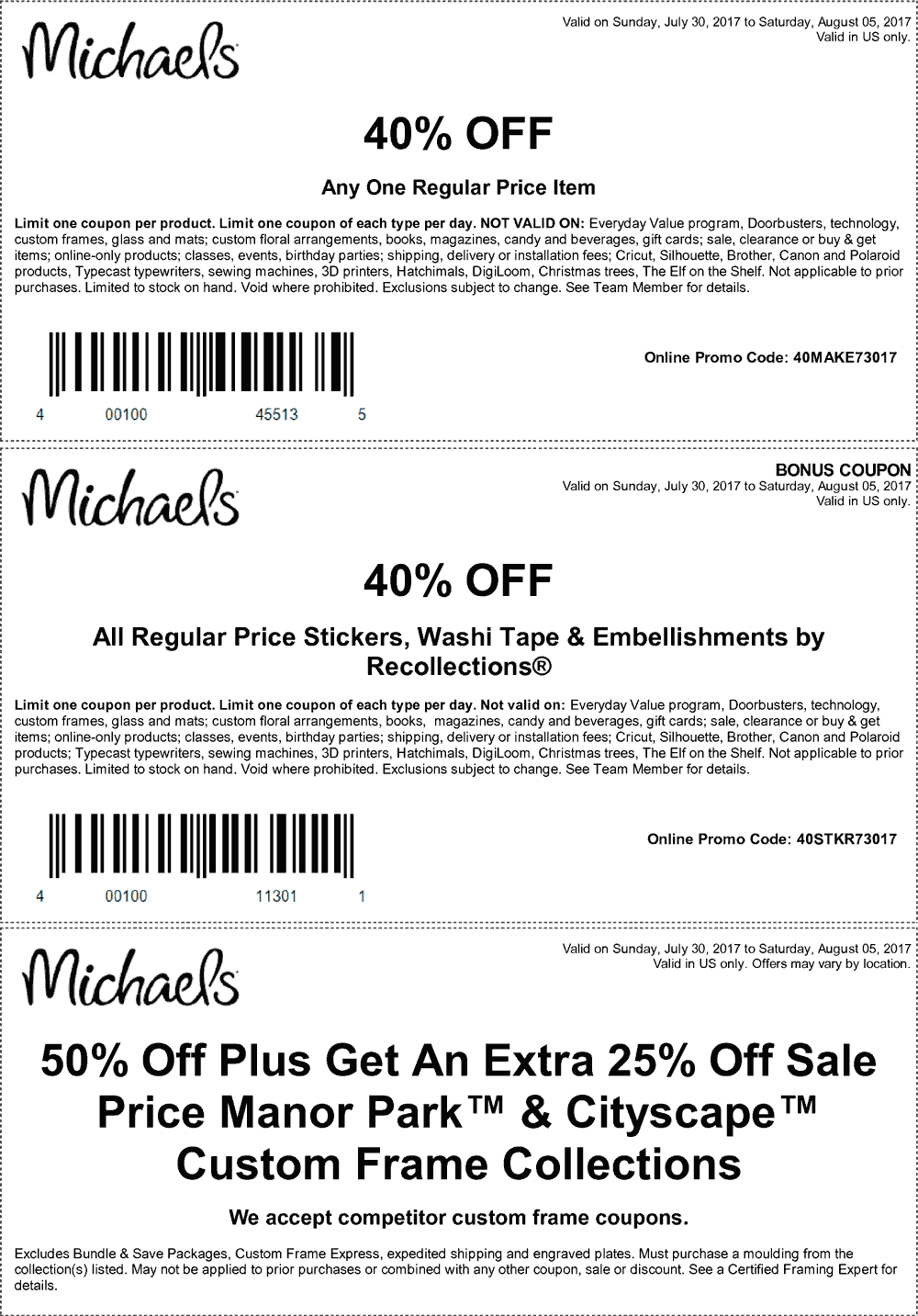 Michaels coupons - 40% off a single item & more at
