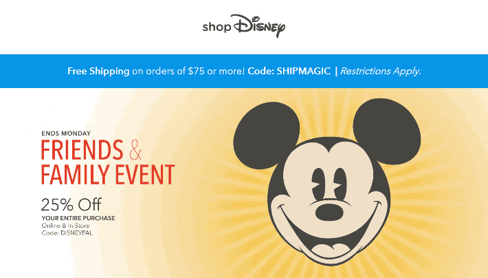 Disney Store Coupon April 2019 25% off at Disney Store, or online via promo code DISNEYPAL