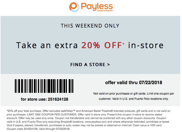 Payless Shoesource Coupon October 2018 20% off at Payless Shoesource