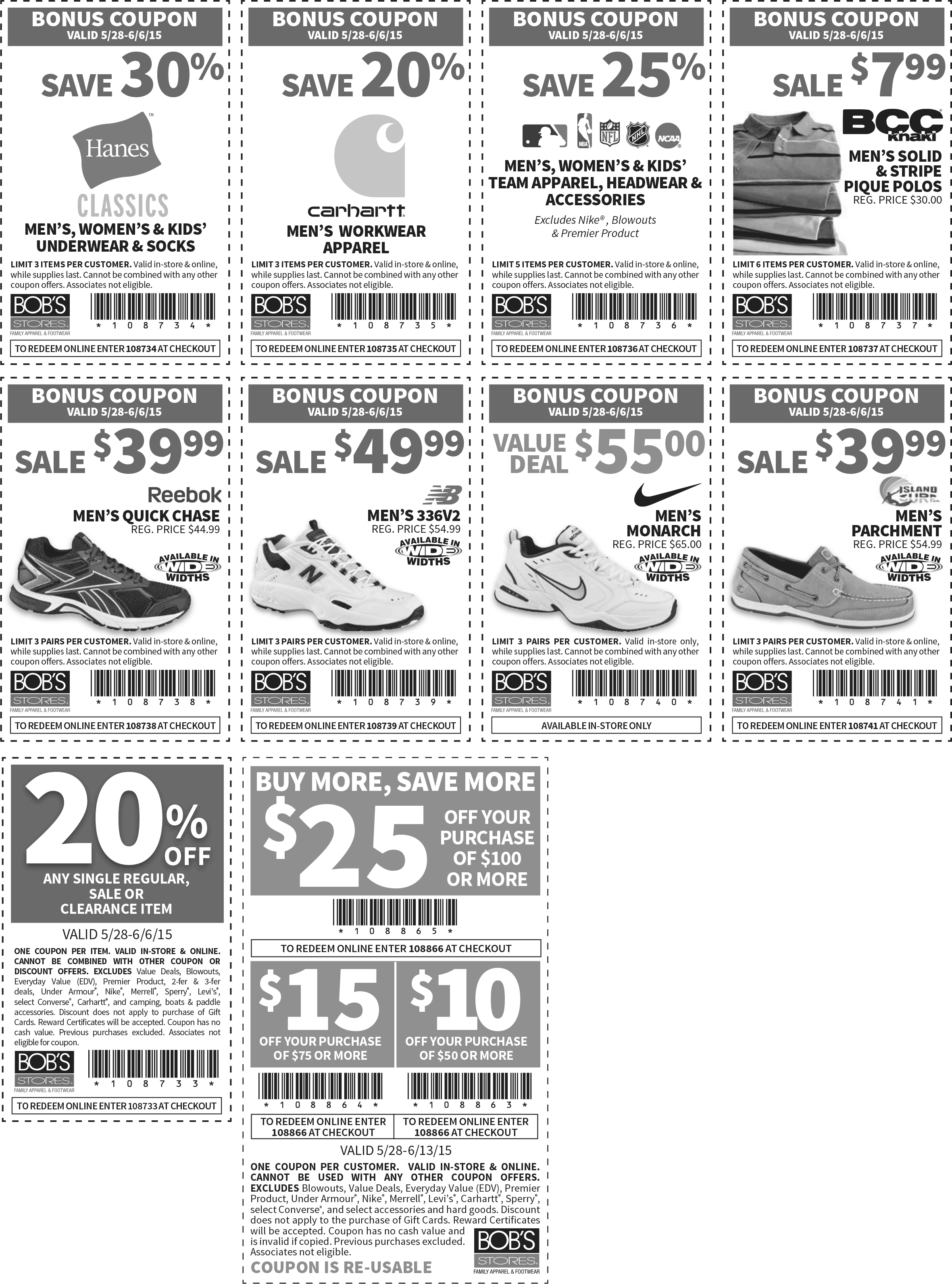 Bobs Stores Coupon June 2017 $10 off $50 & more at Bobs Stores, or online via promo code 108866