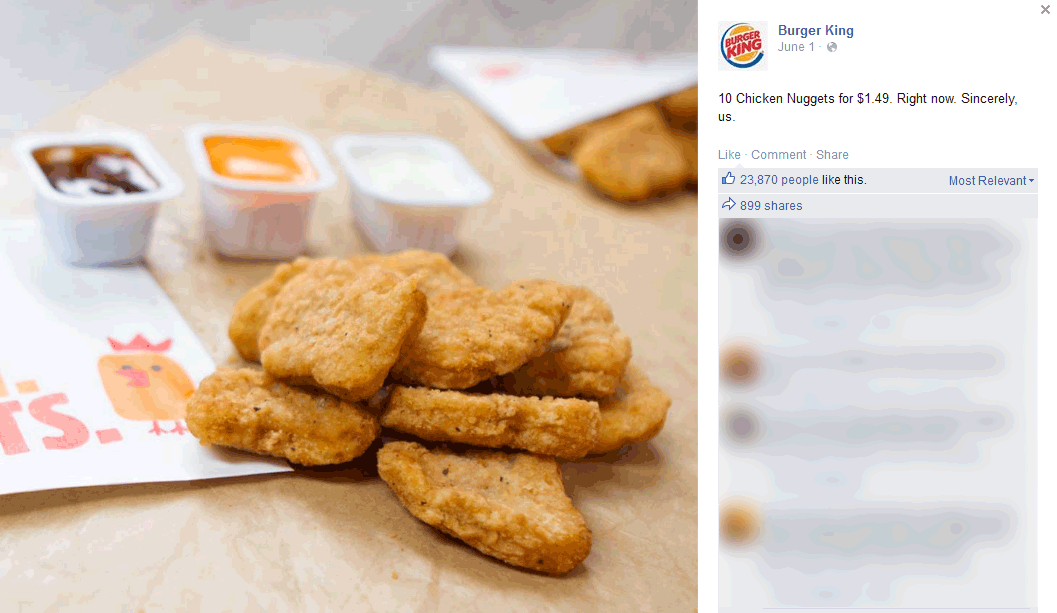 Burger King Coupon July 2017 10pc nuggets for $1.49 at Burger King