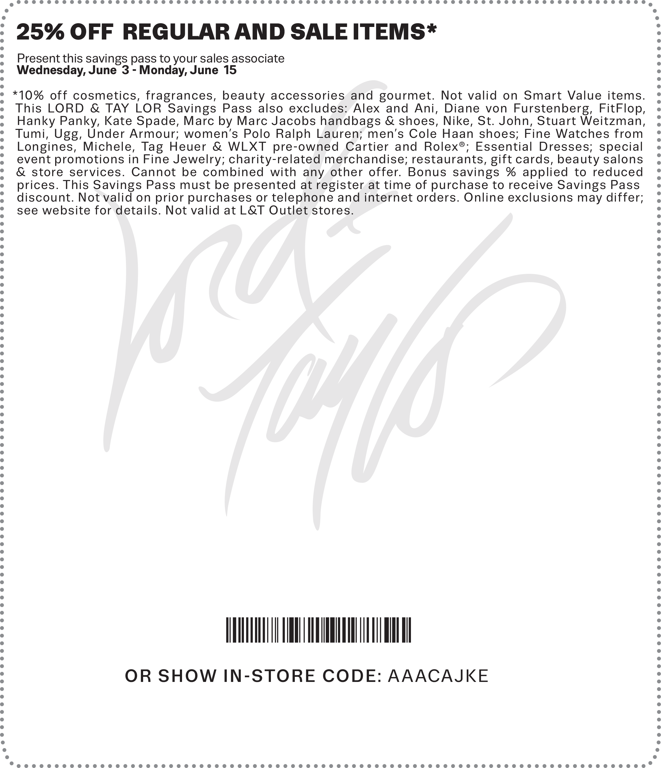 Lord & Taylor Coupon December 2016 Extra 25% off at Lord & Taylor, or online via promo code FRIENDS