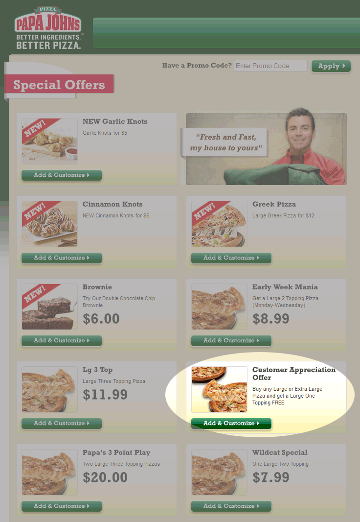 Papa Johns Coupon October 2016 Second large 1-topping pizza free at Papa Johns