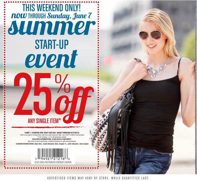 Gordmans Coupon August 2018 25% off a single item at Gordmans