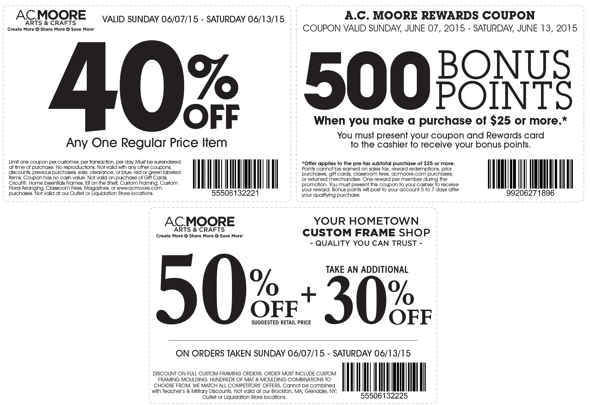 A.C. Moore Coupon February 2018 40% off a single item & more at A.C. Moore