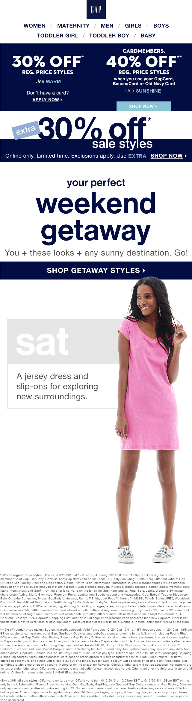 Gap Coupon May 2018 30% off at Gap, GapBody, GapKids & babyGap, or online via promo code WARM