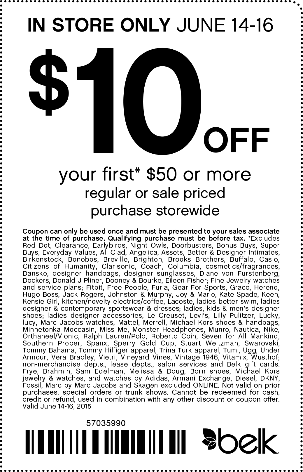 Belk Coupon April 2019 $10 off $50 at Belk, or online via promo code 70586341