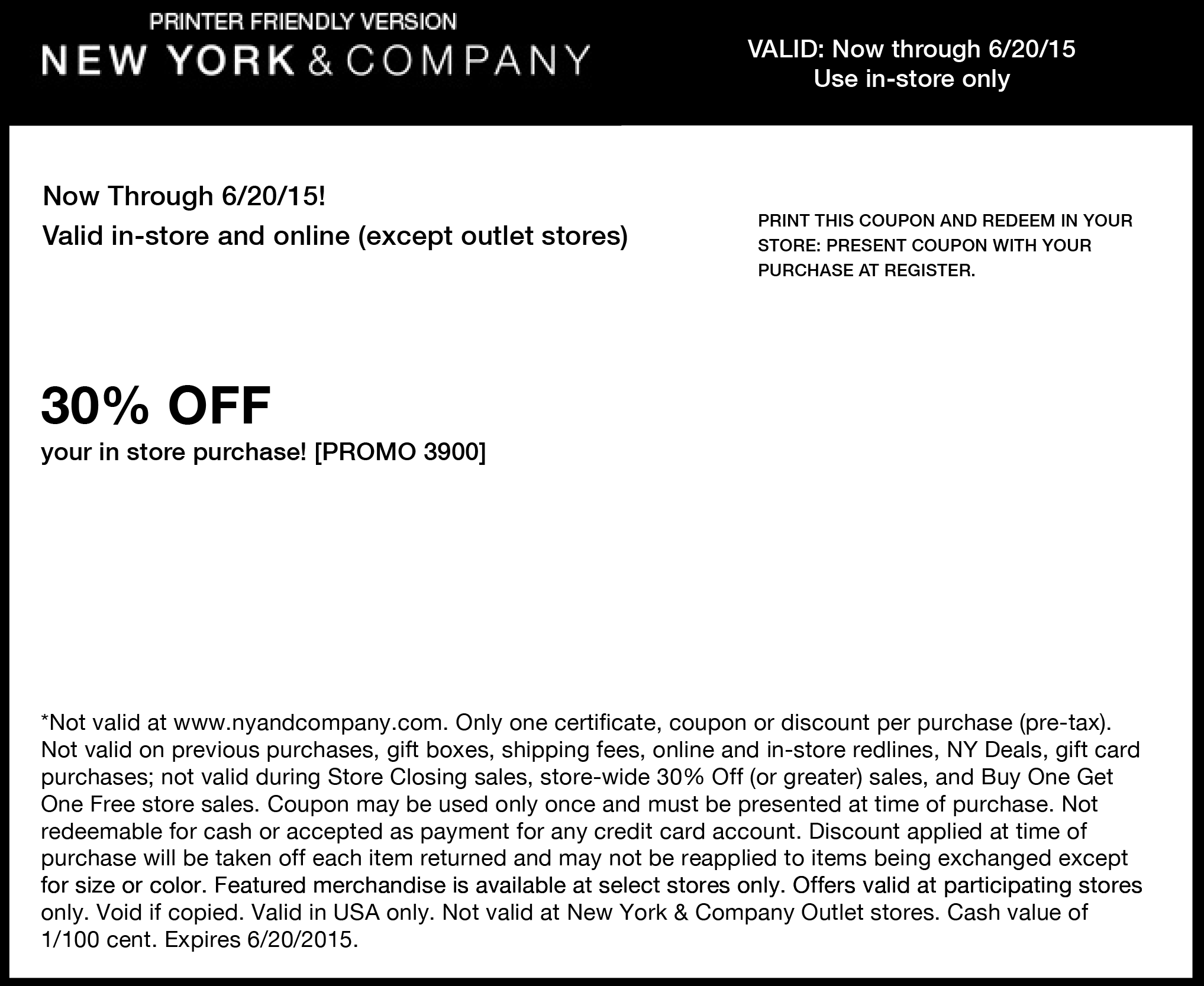 New York & Company Coupon July 2017 30% off at New York & Company, or online via promo code 3900