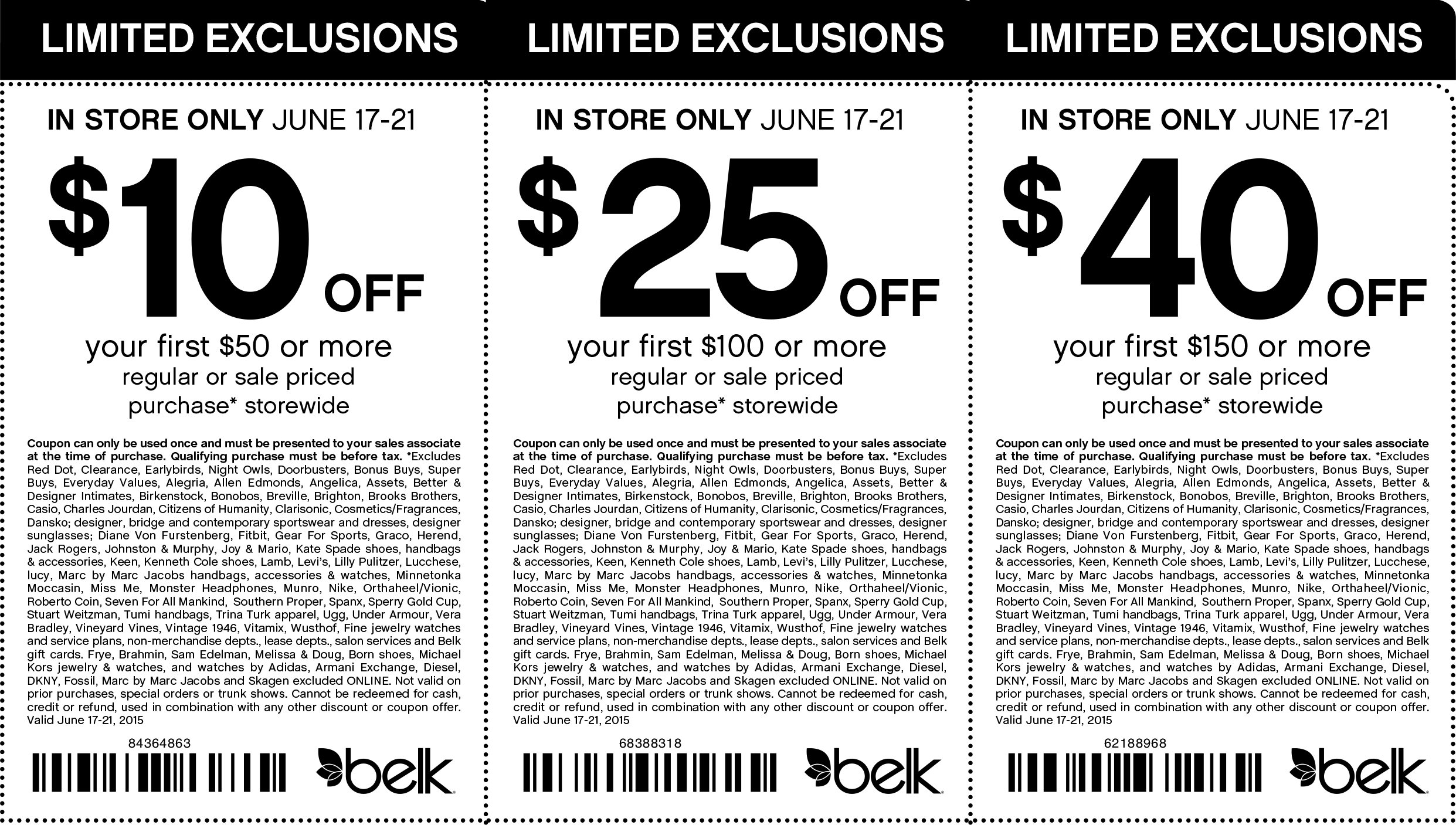 Belk Coupon October 2016 $10 off $50 & more at Belk, or online via promo code 59771023