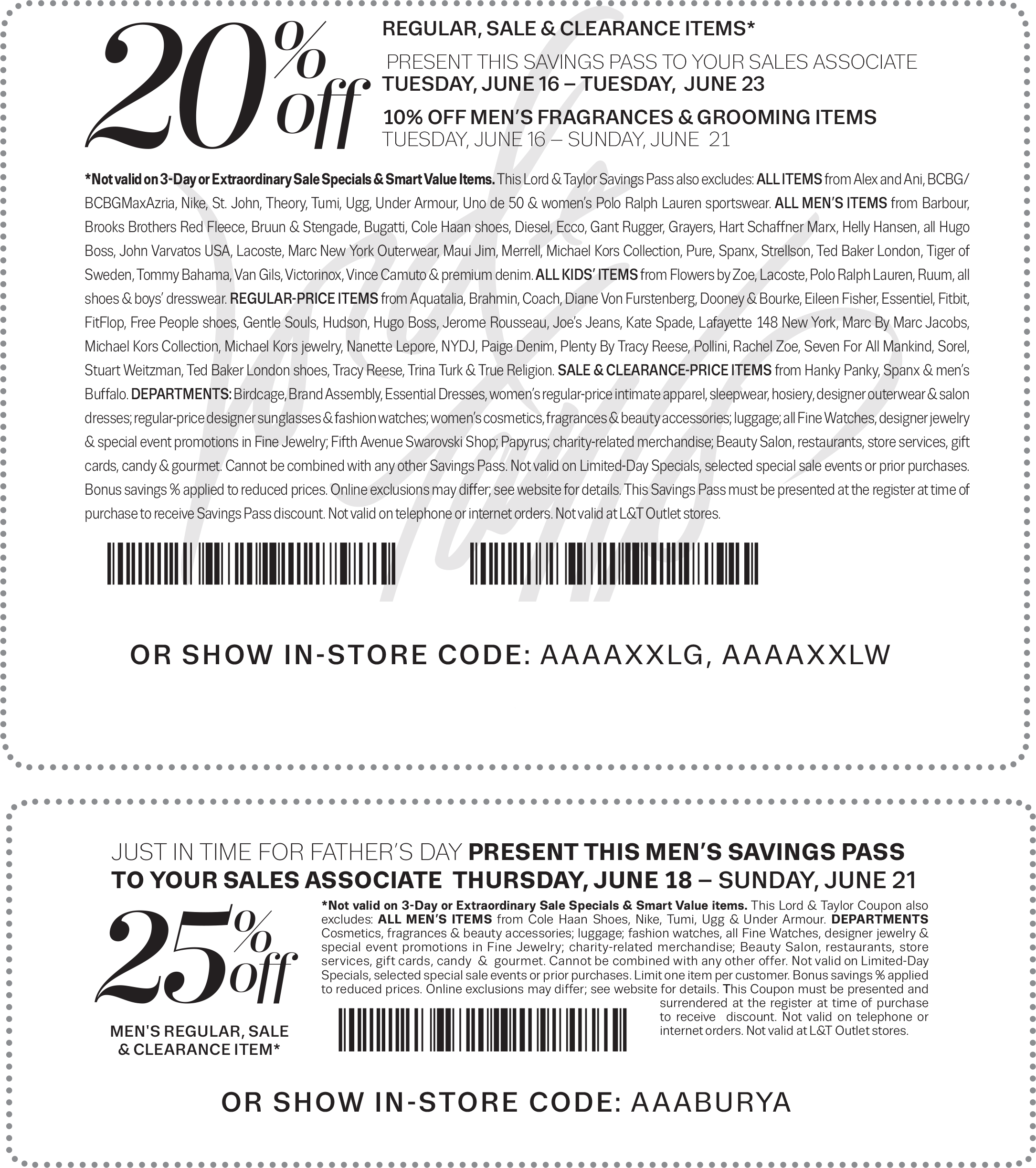 Lord & Taylor Coupon March 2018 20-25% off at Lord & Taylor, or online via promo code JUNE