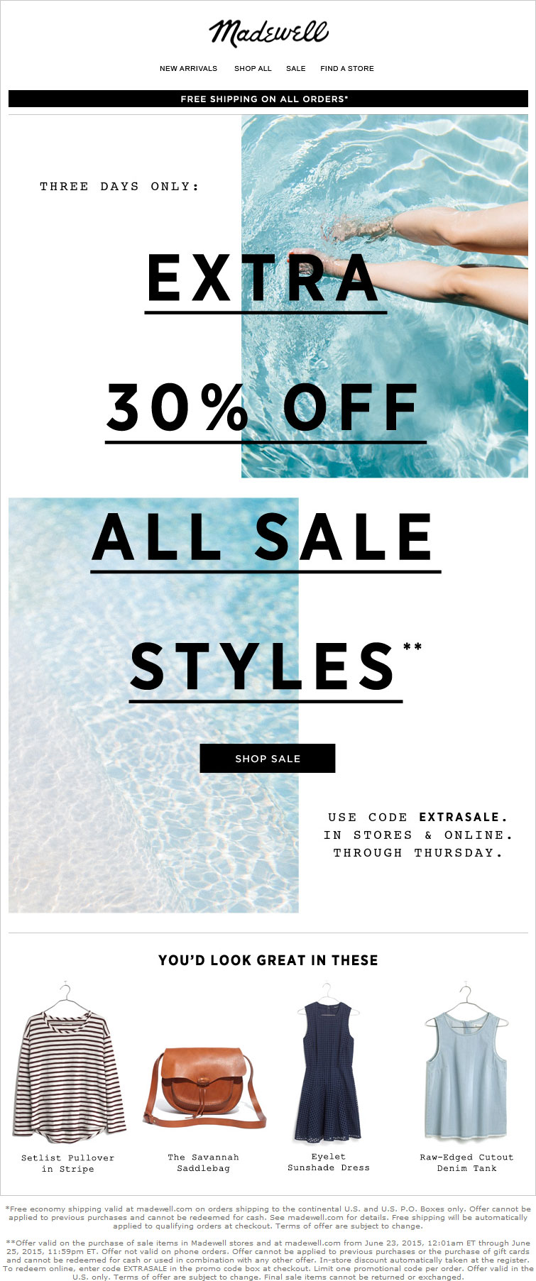 Madewell Coupon April 2018 Extra 30% off sale items at Madewell, or online via promo code EXTRASALE