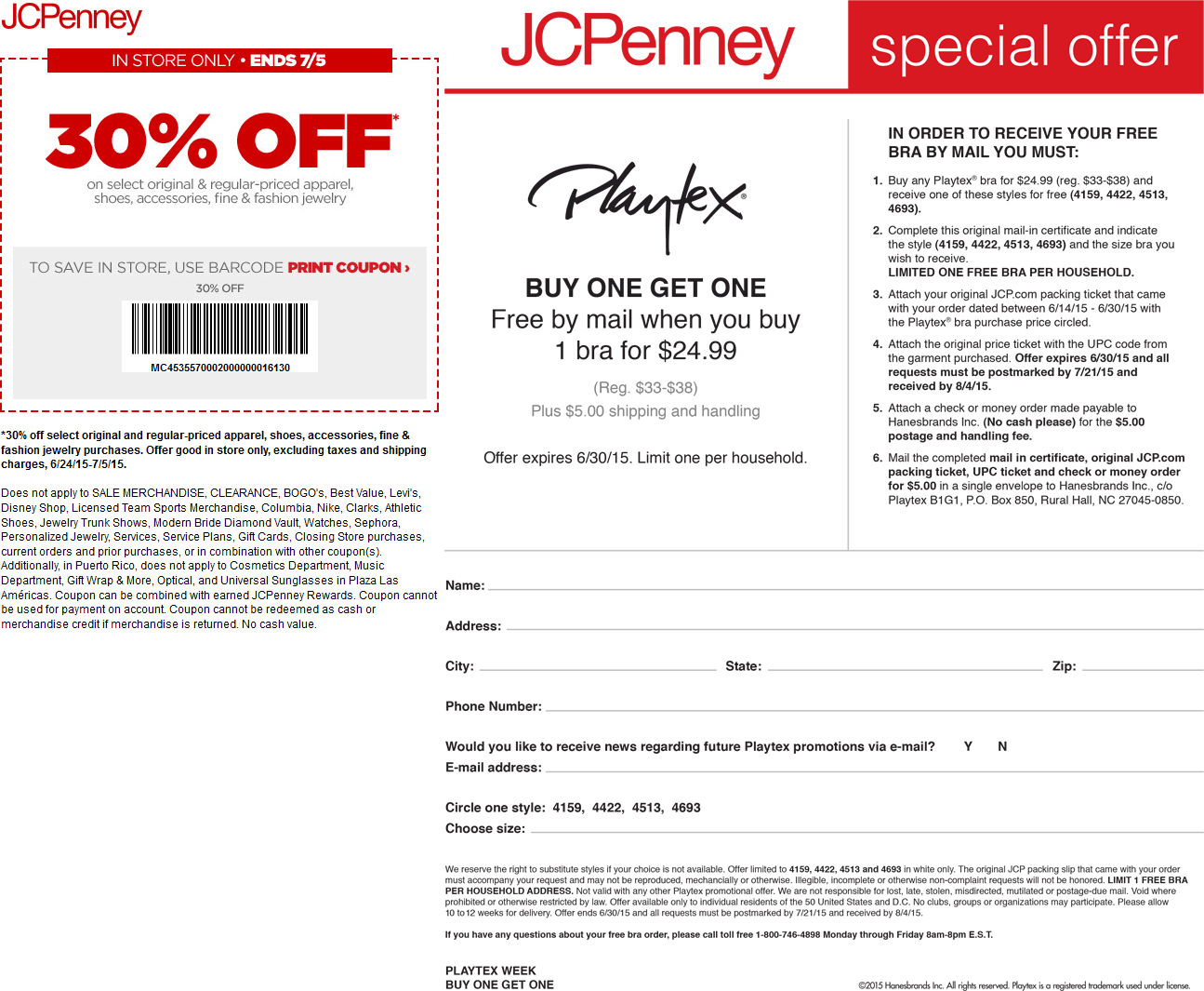 JCPenney Coupon May 2018 30% off at JCPenney - also second bra $5 by mail