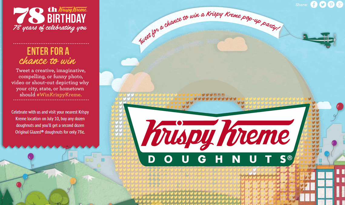 Krispy Kreme Coupon June 2017 Second dozen doughnuts for a buck the 10th at Krispy Kreme