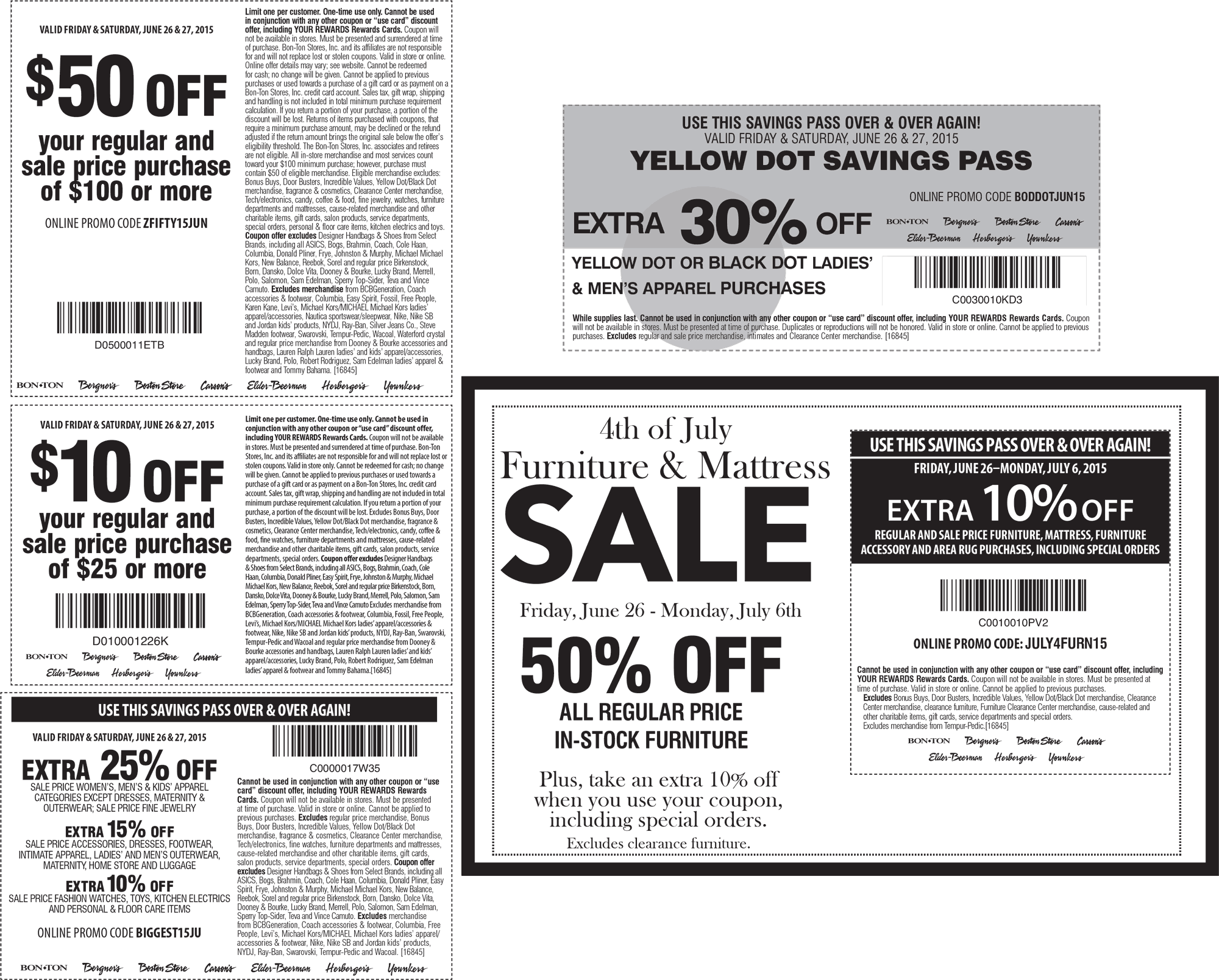 Carsons Coupon February 2017 $50 off $100 & more today at Carsons, Bon Ton & sister stores, or online via promo code ZFIFTY15JUN