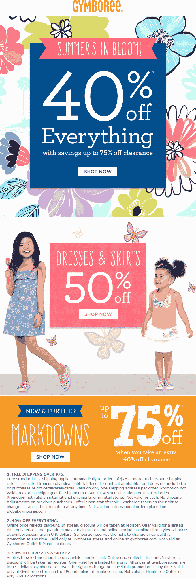 Gymboree Coupon October 2016 40% off everything & more at Gymboree, ditto online