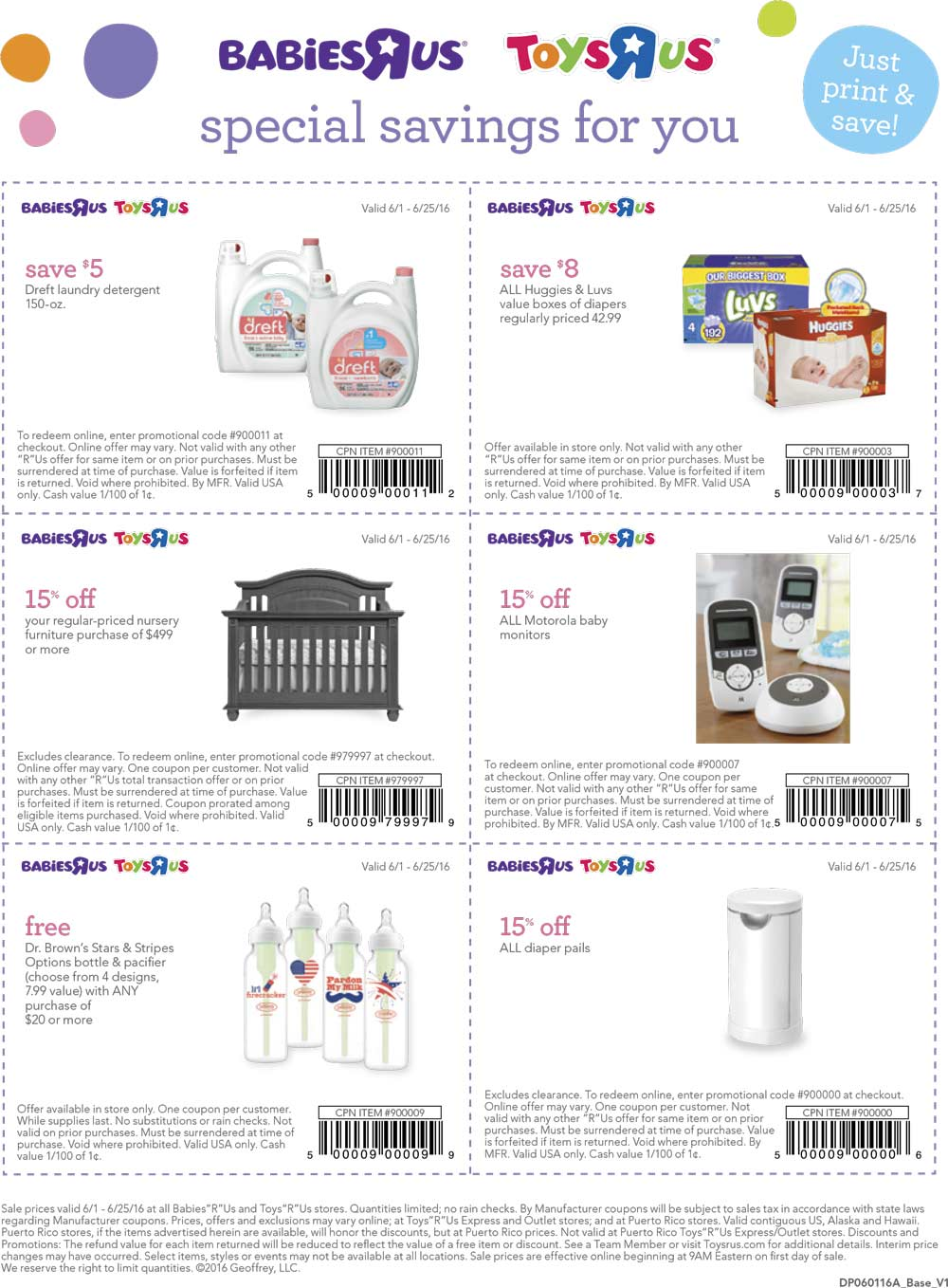 Babies R Us Coupon June 2018 $8 off diapers, free bottle & more at Babies R Us & Toys R Us