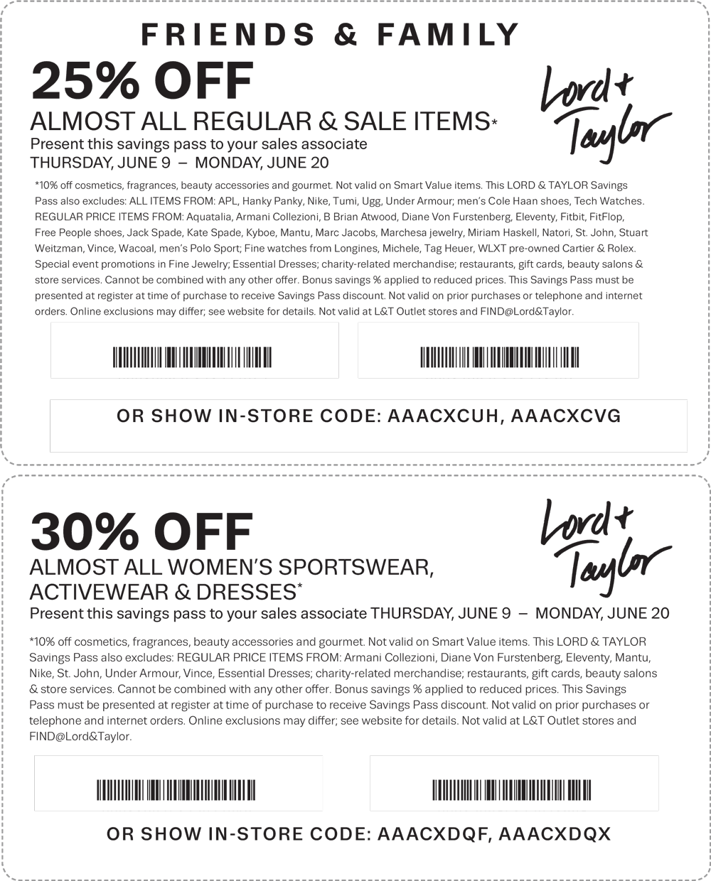 Lord & Taylor Coupon May 2017 25% off & more at Lord & Taylor, or online via promo code FRIENDS